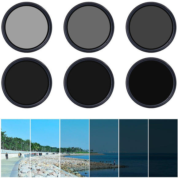 Variable and adjustable neutral density ND gradient filter