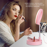Dimmable desktop makeup mirror selfie ring light