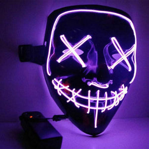 Halloween glowing LED mask