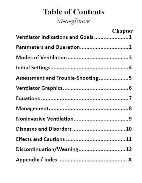 Oakes Ventilator Management Pocket Guide