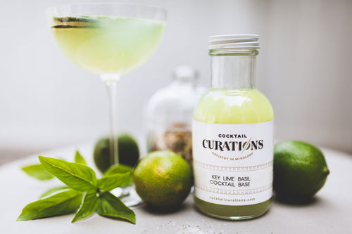 Cocktail Curations Citrus Basil Cocktail Base Green Fresh Fruit