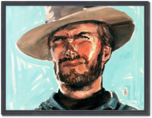 Clint Eastwood - Framed Canvas Print