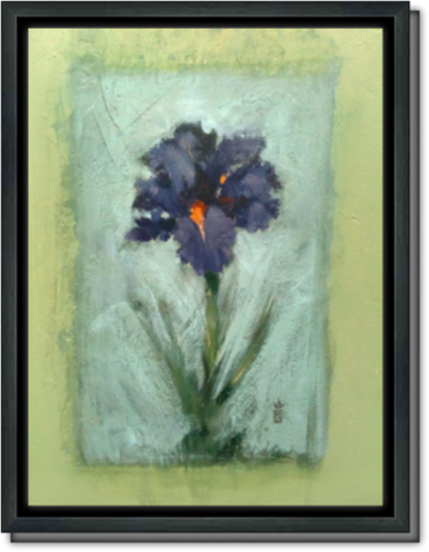 Iris for Acey - Framed Canvas Print
