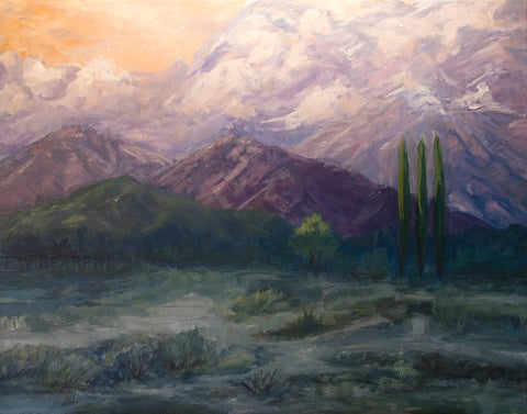 Sunset Mountains - Fine Art Paper Print