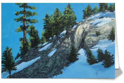 Light Dappled Hill - Folded Card
