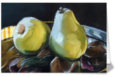 Morning Pears - Folded Card