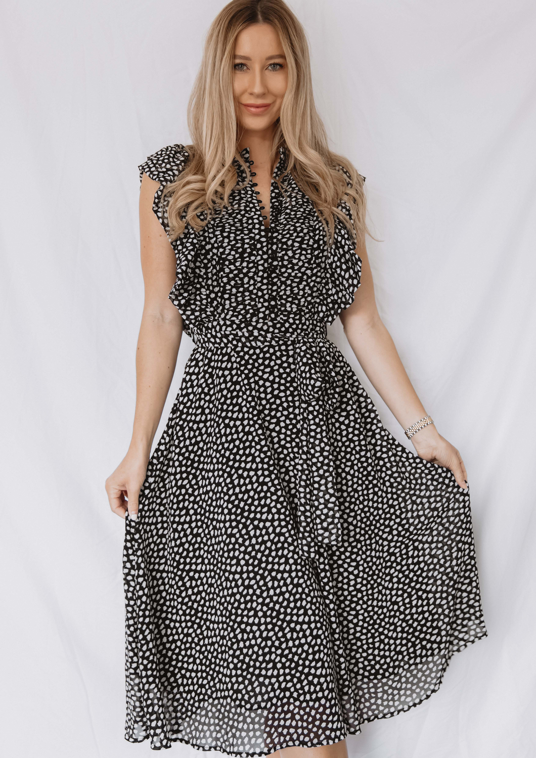 The Leopard Ruffle Dress