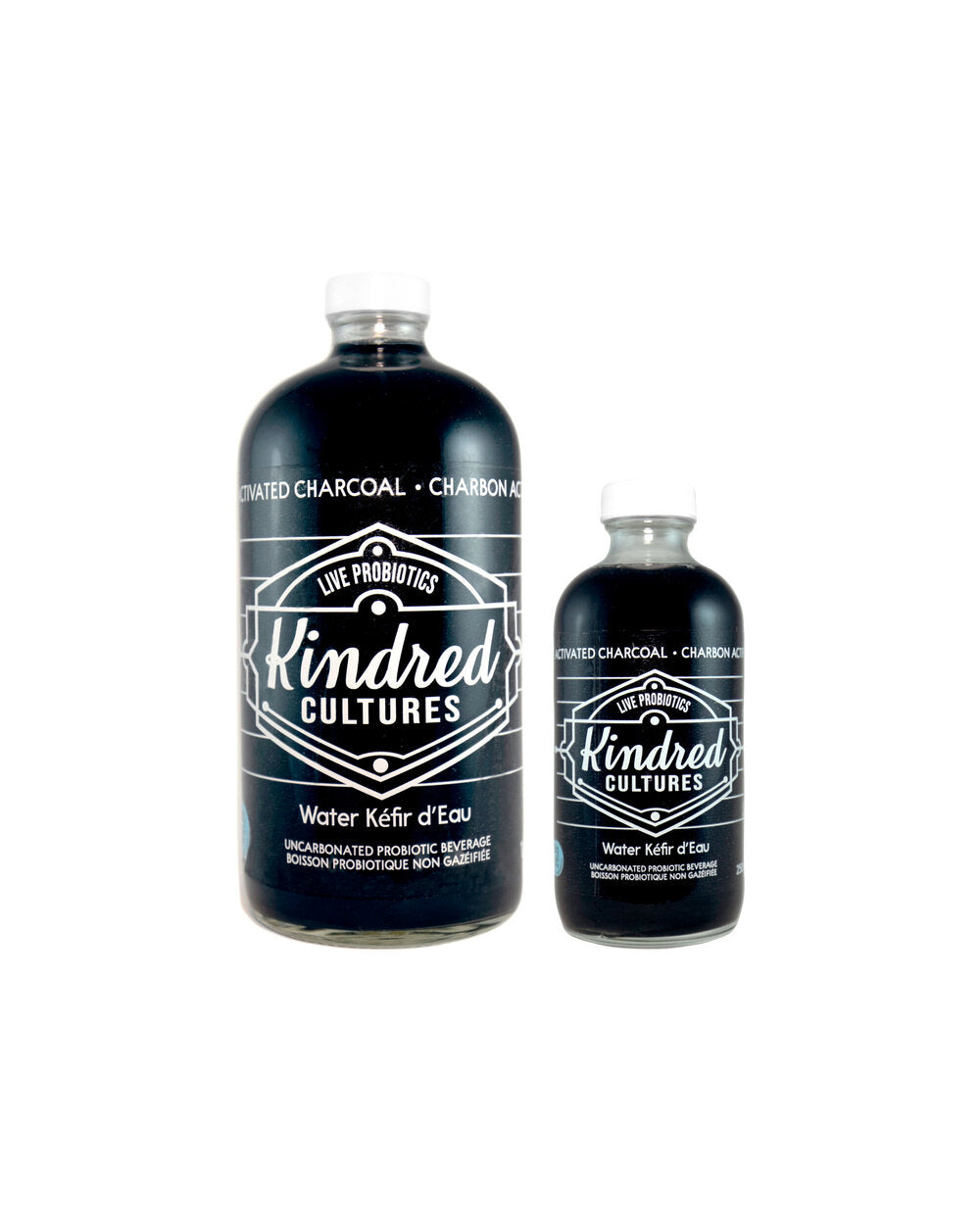 Kindred Cultures - Activated Charcoal Water Kefir