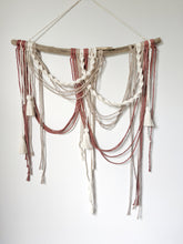 Load image into Gallery viewer, Macrame Minimalist Draped Wall Hanging - Tassels - String Theories Fiber Design