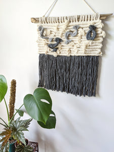 Macrame Squiggle 3D Sculpture Wall Hanging - String Theories Fiber Design