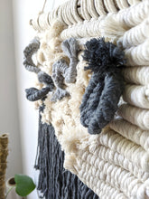 Load image into Gallery viewer, Macrame Squiggle 3D Sculpture Wall Hanging - String Theories Fiber Design