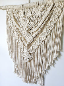 Extra Detailed Medium-Sized Macrame Ceremony Backdrop - String Theories Fiber Design