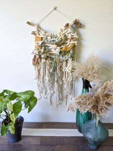 Macrame Extra Textured Wall Hanging - Moss Colours