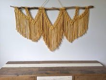 Load image into Gallery viewer, Large Macrame Wall Hanging - Triple Fringe - String Theories Fiber Design