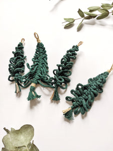 Macrame Christmas Tree Ornaments