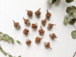 Macrame Christmas Acorns
