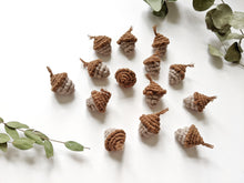 Load image into Gallery viewer, Macrame Christmas Acorns