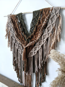 Macrame Layered Earthy Hanging Tapestry - String Theories Fiber Design