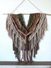 Load image into Gallery viewer, Macrame Layered Earthy Hanging Tapestry