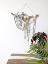 Load image into Gallery viewer, Flower Crown Macrame Hanging - Foxtrot - String Theories Fiber Design