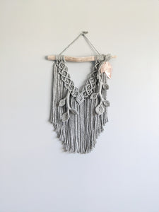 Flower Crown Macrame Hanging - Bravo - String Theories Fiber Design