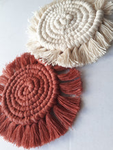Load image into Gallery viewer, Set of 4 Boho Macrame Coasters