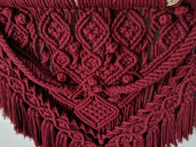 Load image into Gallery viewer, Large Merlot Macrame Wall Hanging - String Theories Fiber Design