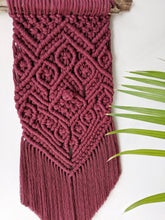 Load image into Gallery viewer, Chunky Macrame Wall Hanging in Burgundy