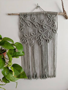Macrame Vines and Leaves Wall Hanging - Horizontal
