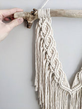 Load image into Gallery viewer, Macrame Wall Hanging - Mini Double Spiral Pattern in Cream