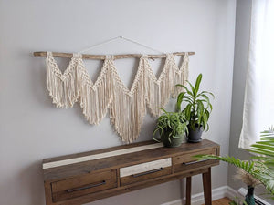Extra Large Macrame Wall Hanging - String Theories Fiber Design
