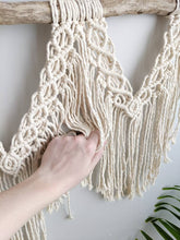 Load image into Gallery viewer, Extra Large Macrame Wall Hanging - String Theories Fiber Design