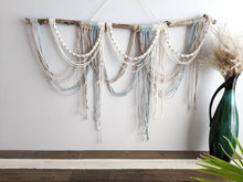 Load image into Gallery viewer, Draped Minimalist Mid Century Modern Macrame Wall Hanging - String Theories Fiber Design