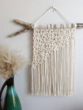 Load image into Gallery viewer, Macrame Asymmetric Bubble Wall Hanging