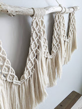 Load image into Gallery viewer, Extra Large Macrame Brushed Fringed Wall Hanging