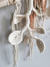 Load image into Gallery viewer, Macrame Wall Hanging Sculpture - Draped Silk - Copper Leaves
