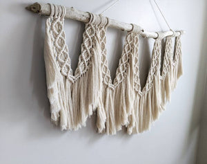 Extra Large Macrame Brushed Fringed Wall Hanging