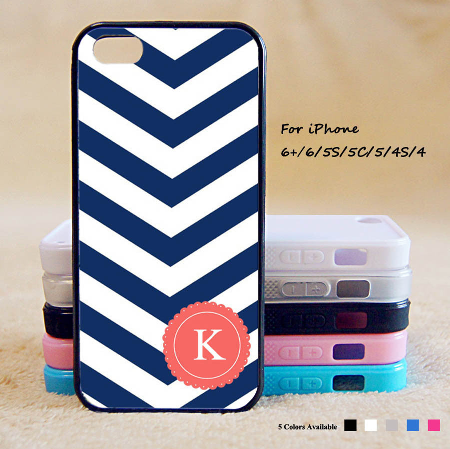 pretty nice dc660 4a731 Monogram initial Phone Case For iPhone 6 Plus For iPhone 6 For iPhone 5/5S  For iPhone 4/4S For iPhone 5C iPhone X 8 8 Plus