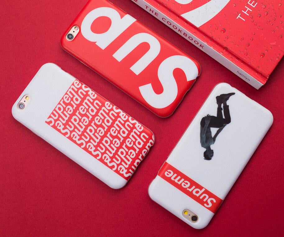 pretty nice 4843b 7b801 Red supreme mobile phone case for iphone 5 5s SE 6 6s 6 plus 6s plus + Nice  gift box 71501