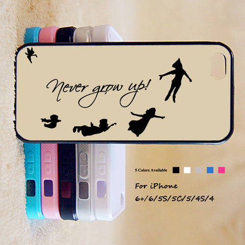 Peter Pan Never Grow Up Phone Case For iPhone 6 Plus For iPhone 6 For iPhone 5/5S For iPhone 4/4S For iPhone 5C