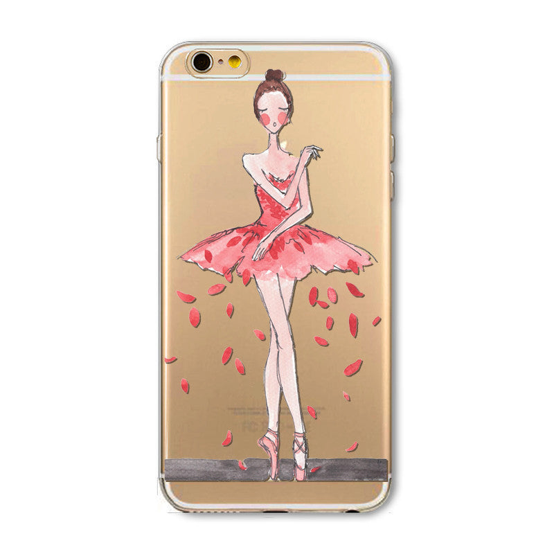 best website 4592c ff0e7 Ballet dancer mobile phone case for iPhone7 7S 7 7Splus iphone 5 5s SE 6 6s  6 plus 6s plus + Nice gift box 072701