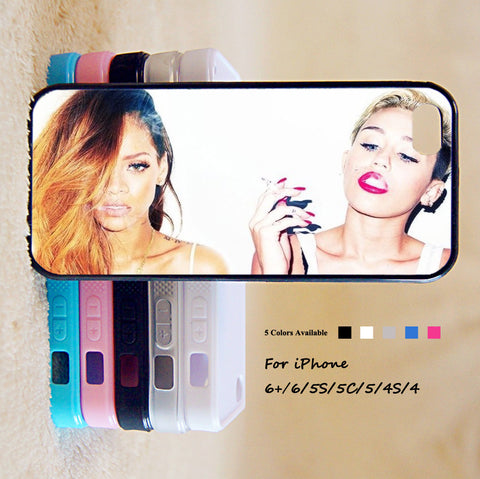 Miley Cyrus And Rihanna Phone Case For iPhone 6 Plus For iPhone 6 For iPhone 5/5S For iPhone 4/4S For iPhone 5C