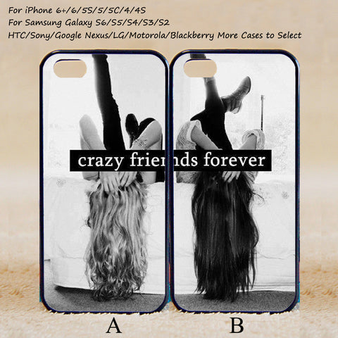Crazy Friends Forever Couple Case,Custom Case,iPhone 6+/6/5/5S/5C/4S/4