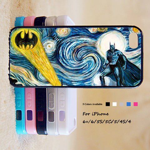 Batman Stary Night Phone Case For iPhone 6 Plus For iPhone 6 For iPhone 5/5S For iPhone 4/4S For iPhone 5C iPhone X 8 8 Plus