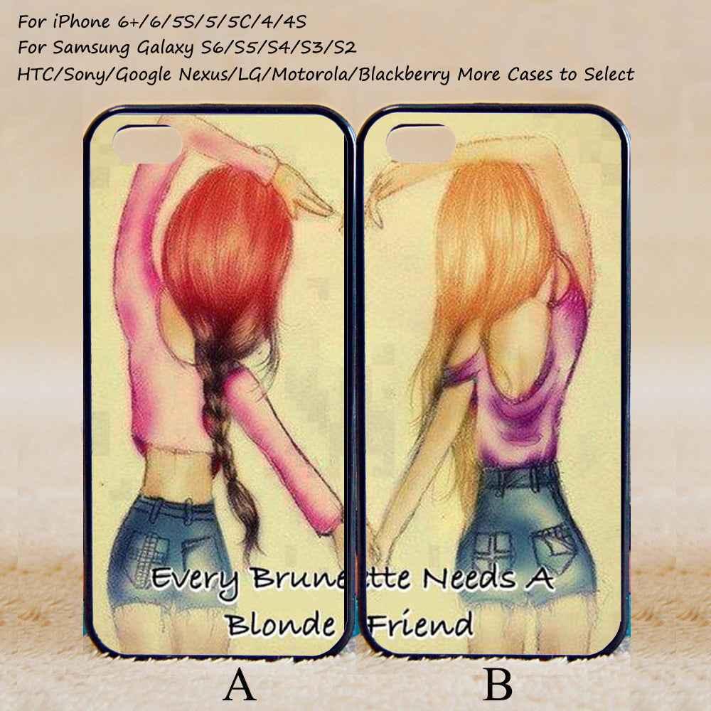separation shoes 9abf8 4294e Every brunette need a blonde Best Friend,Couple Case,Custom Case,iPhone  6+/6/5/5S/5C/4S/4