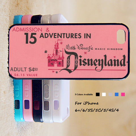 Disneyland Phone Case For iPhone 6 Plus For iPhone 6 For iPhone 5/5S For iPhone 4/4S For iPhone 5C3 iPhone X 8 8 Plus