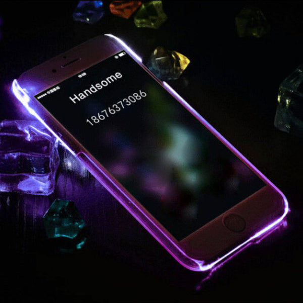 official photos 1a3ef 29560 Cool light up mobile phone case for iPhone 7 7 plus iphone 5 5s SE 6 6s 6  plus 6s plus + Nice gift box 072301