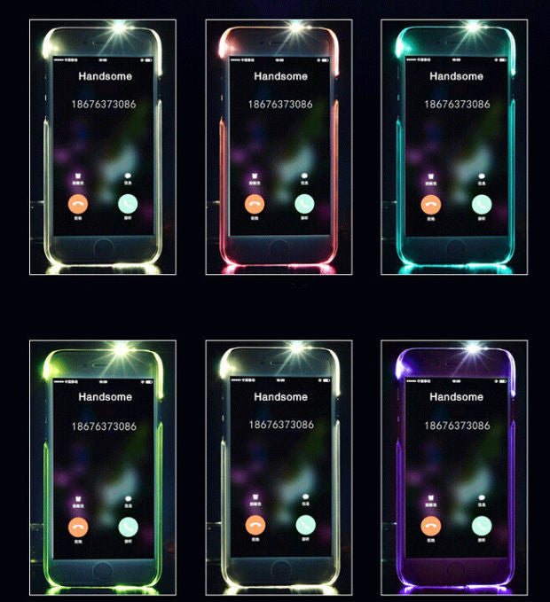Cool light up mobile phone case for iPhone 7 7 plus iphone 5 5s SE 6 6 –  iHomeGifts 1dfd78c61d99