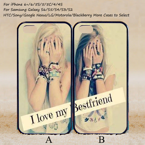 I Love My Best Friend Couple Case,Custom Case,iPhone 6+/6/5/5S/5C/4S/4