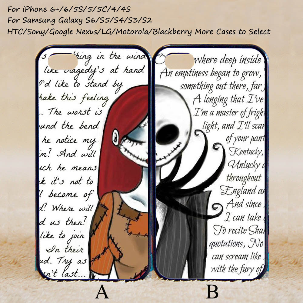 The Nightmare Before Christmas Sally and Jack couple case – iHomeGifts